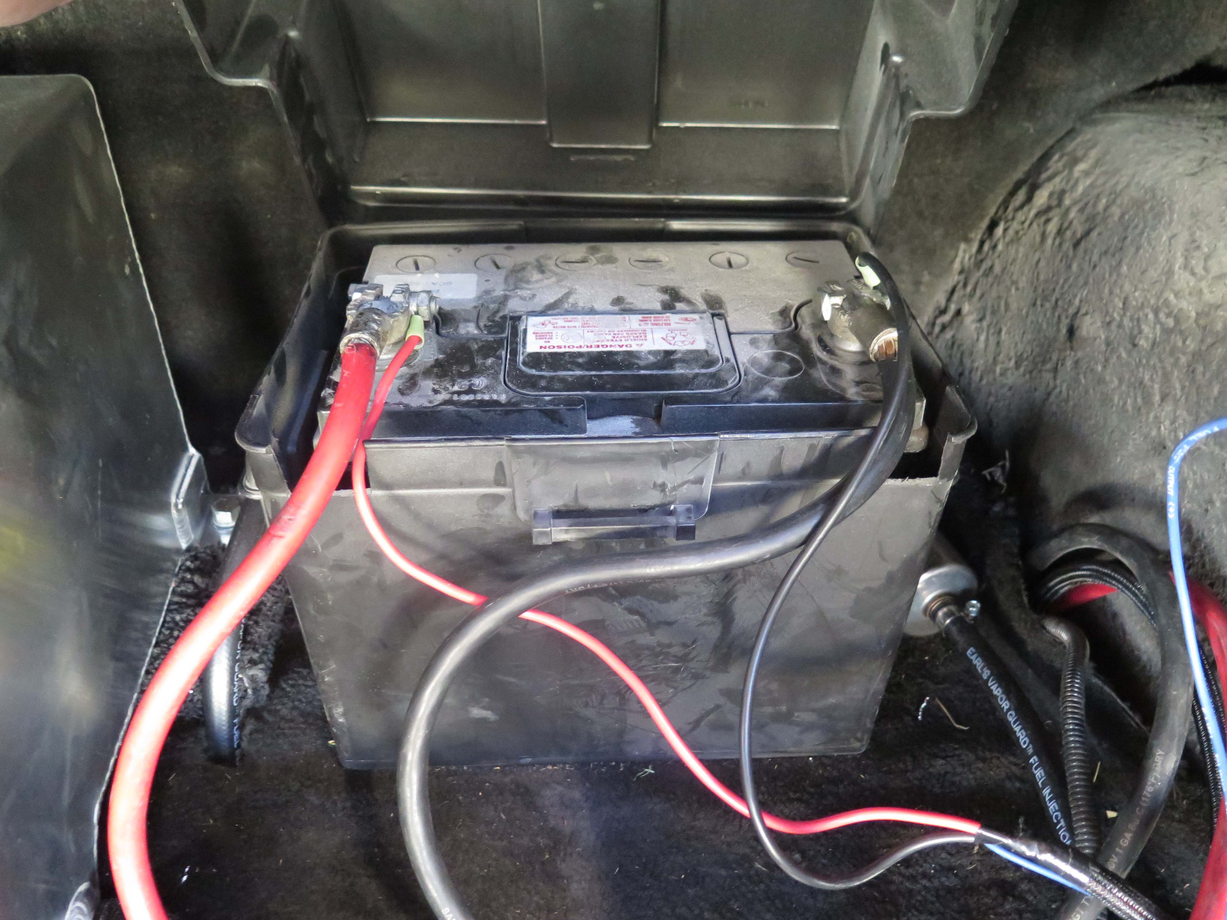 "To supply a ""clean"" power source, the plus and minus wires from the ECU must be connected directly to the battery."