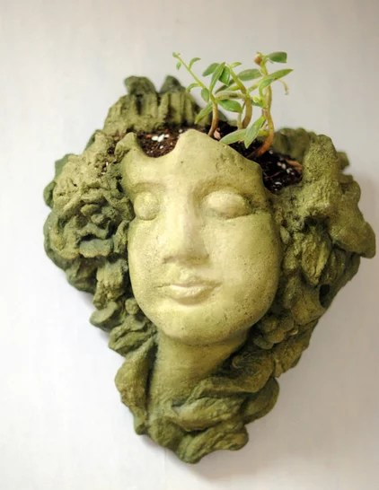 eclética cozinha plantador de cabeça senhora