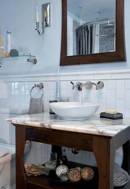 traditional bathroom by Brandstrom Interiors