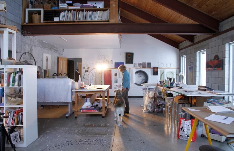 Industrial Home Office by Esther Hershcovich