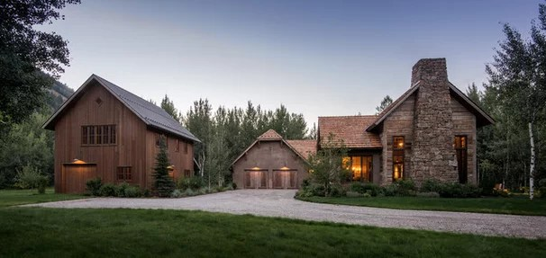 Rustic Exterior by MILLER ARCHITECTS PC