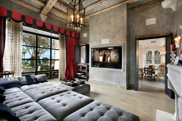Mediterranean Family Room by Prestige Builders
