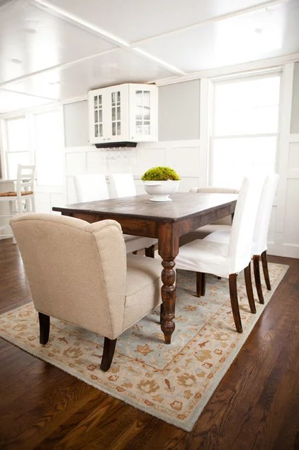 transitional dining room by Tess Fine