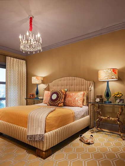Eclectic Bedroom by Jeffers Design Group