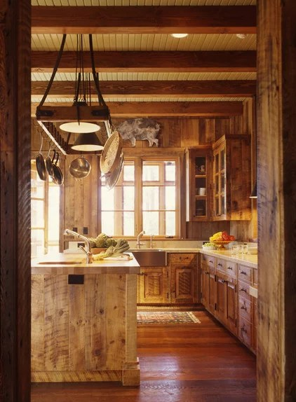 Rustic Kitchen by Tucker & Marks
