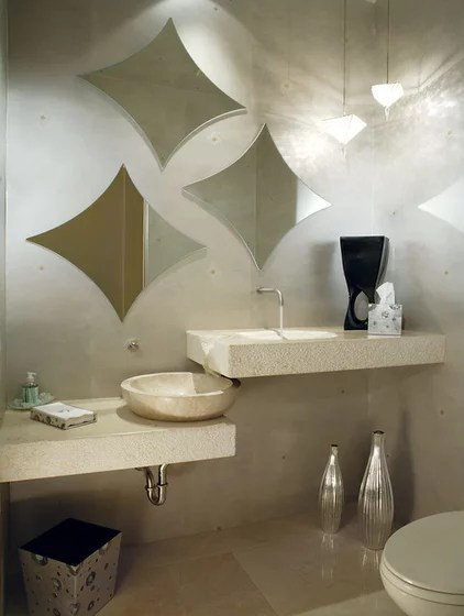 Contemporary Powder Room by Century Custom Homes LLP