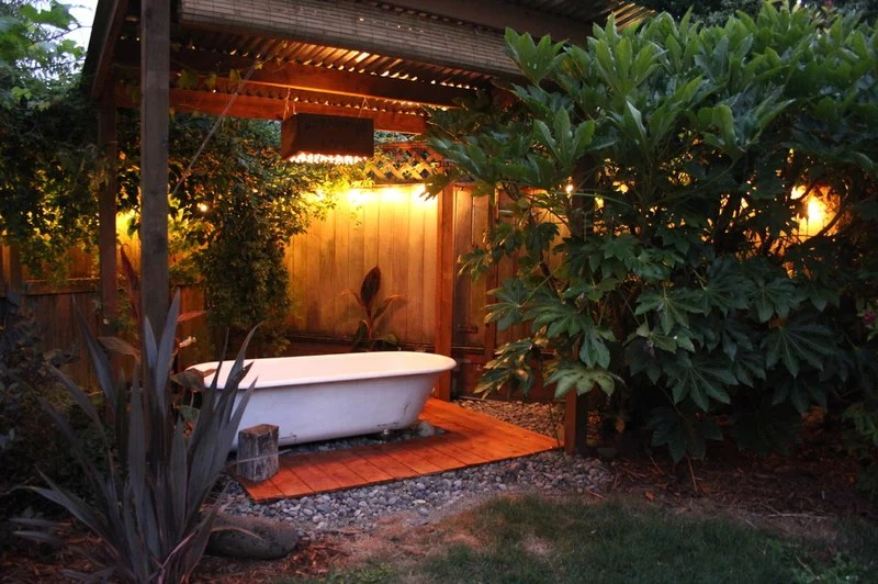 Backyard Bath House