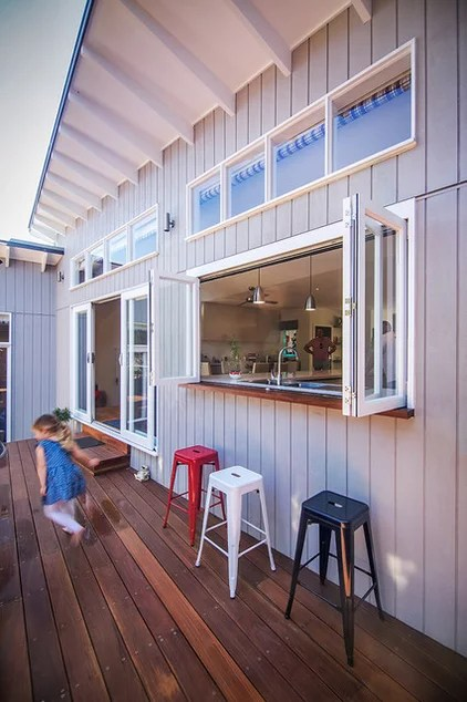 Beach Style Deck by Sketch Building Design
