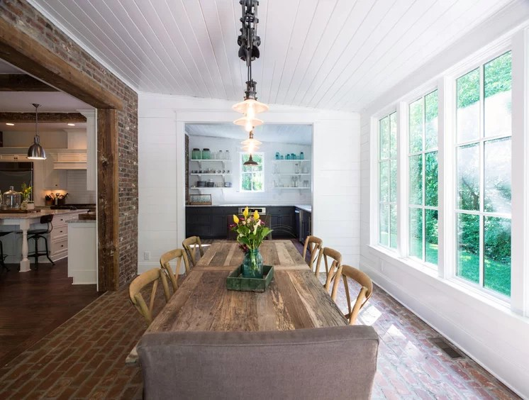Traditional Dining Room by P. Shea Design