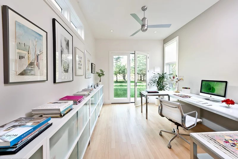 contemporary home office by Kimberly Demmy Design