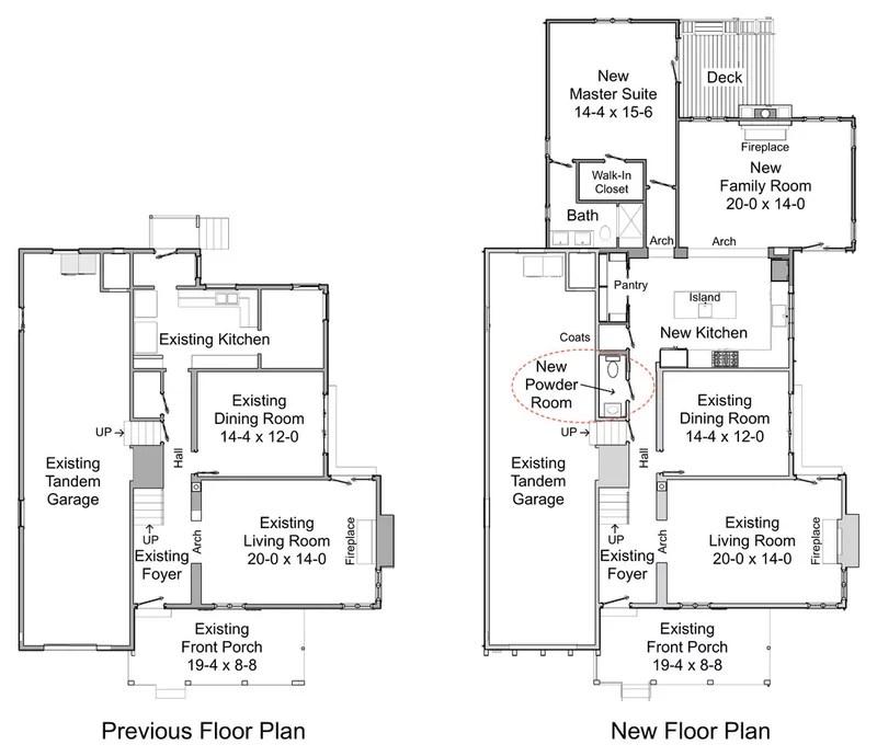 Traditional Floor Plan by Steven Corley Randel, Architect