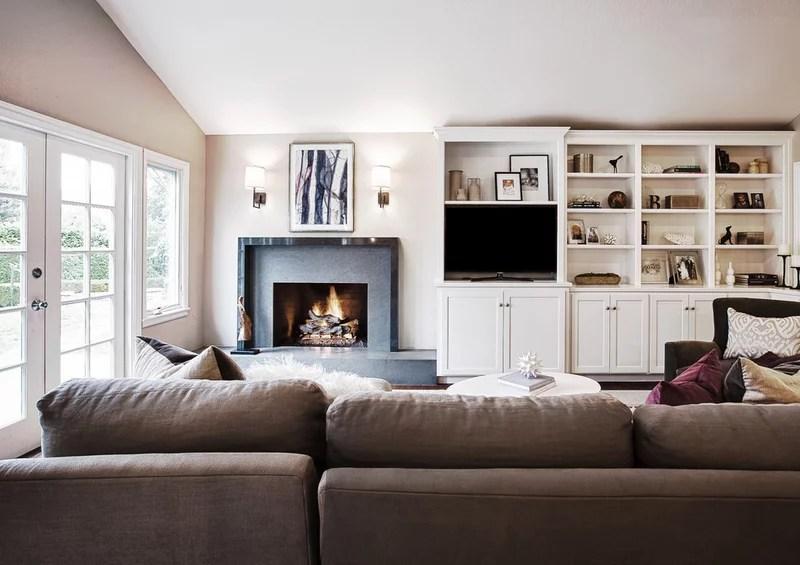 contemporary family room by Kriste Michelini Interiors