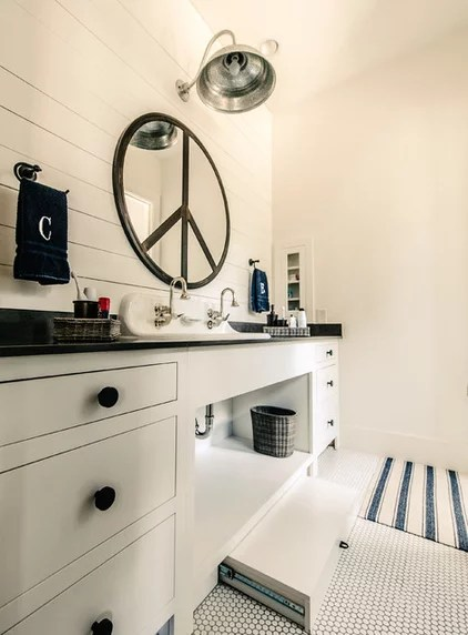 Transitional Bathroom by Van Wicklen Design