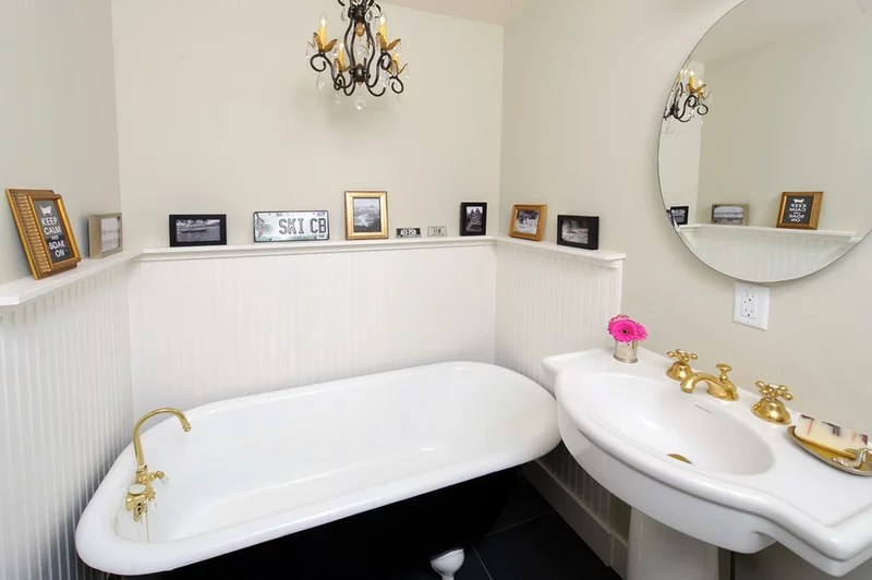 eclectic bathroom by Sarah Phipps Design