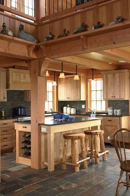 eclectic kitchen by David Heide Design Studio
