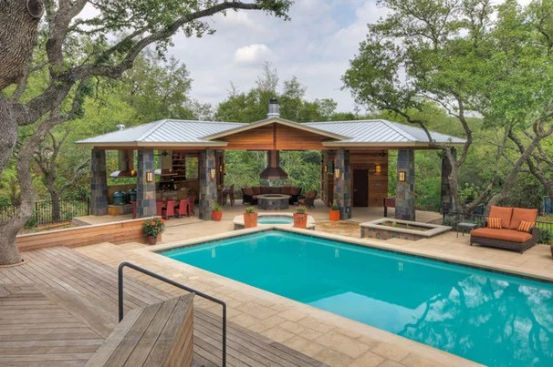 Contemporary Pool by CG&S Design-Build on Outdoor Kitchen With Pool Ideas id=44133
