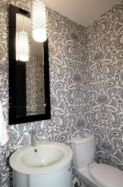 contemporary powder room by Atmosphere Interior Design Inc.