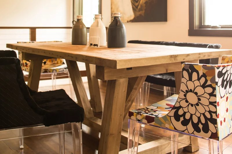 Rustic Dining Room by Grace Home Design, Inc.