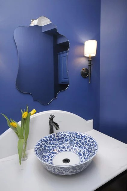 traditional powder room by Carla Aston | Interior Designer