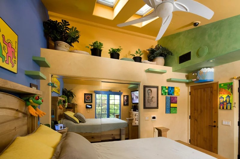 eclectic bedroom by Trillium Enterprises, INC.
