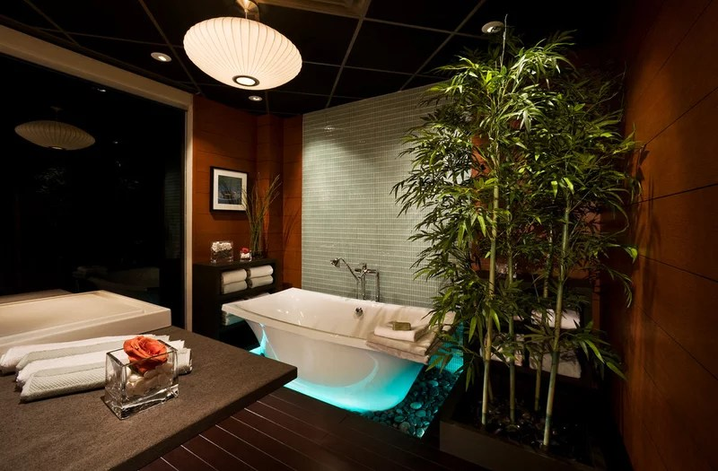 Asian Bathroom by iHome Integration