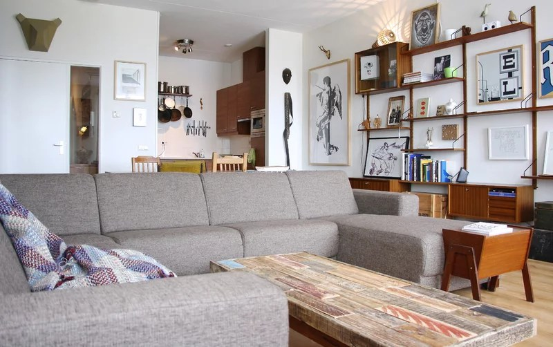 eclectic family room by Holly Marder