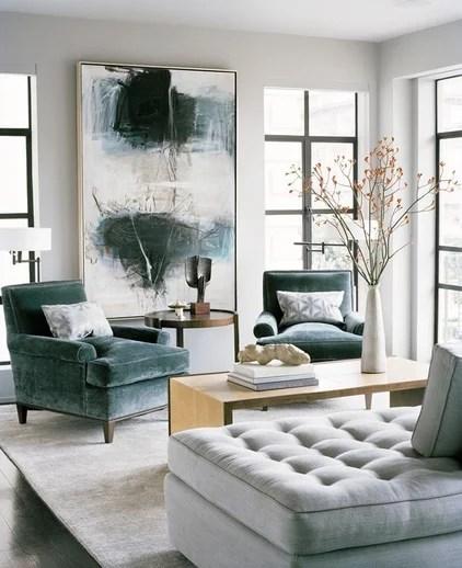 contemporary living room by Leverone Design, Inc.