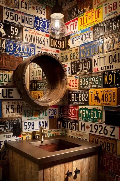 rustic bathroom by Peace Design