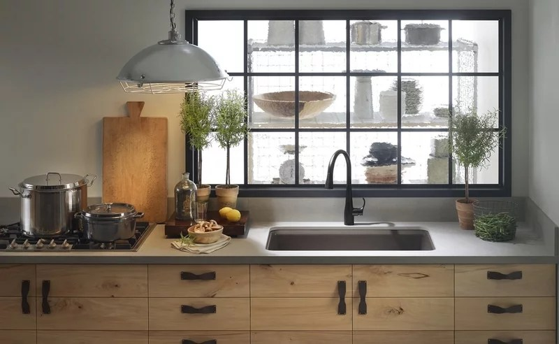eclectic kitchen by Kohler