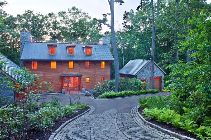 eclectic exterior by Rill Architects