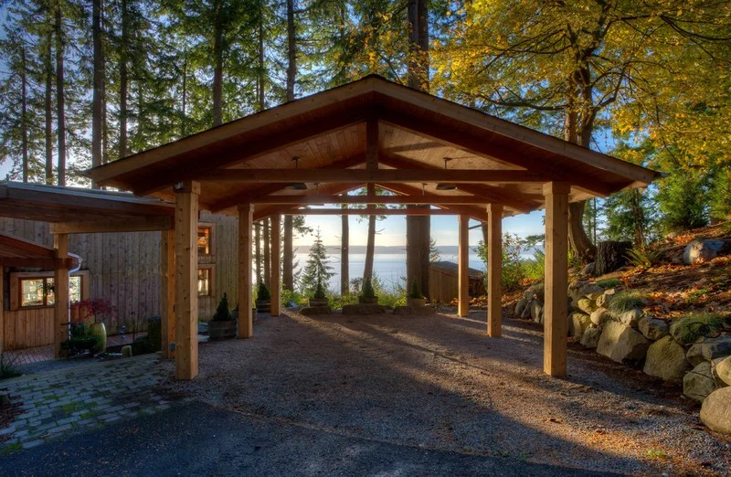 Beach Style Garage And Shed by Dan Nelson, Designs Northwest Architects