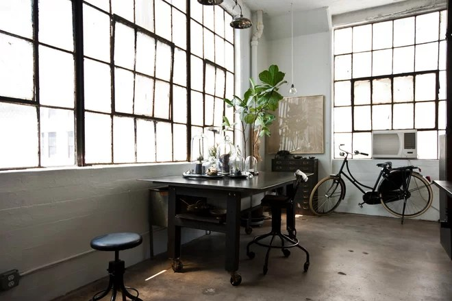 Industrial Home Office by Chris A. Dorsey Photography