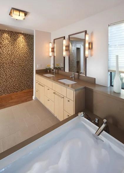 modern bathroom by Amy A. Alper