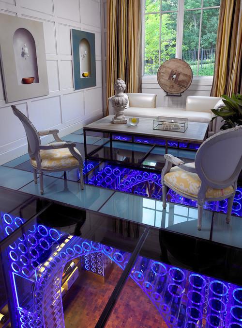 Pool House & Wine Cellar modern wine cellar