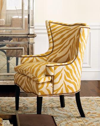Sunflower Zebra Chair traditional chairs
