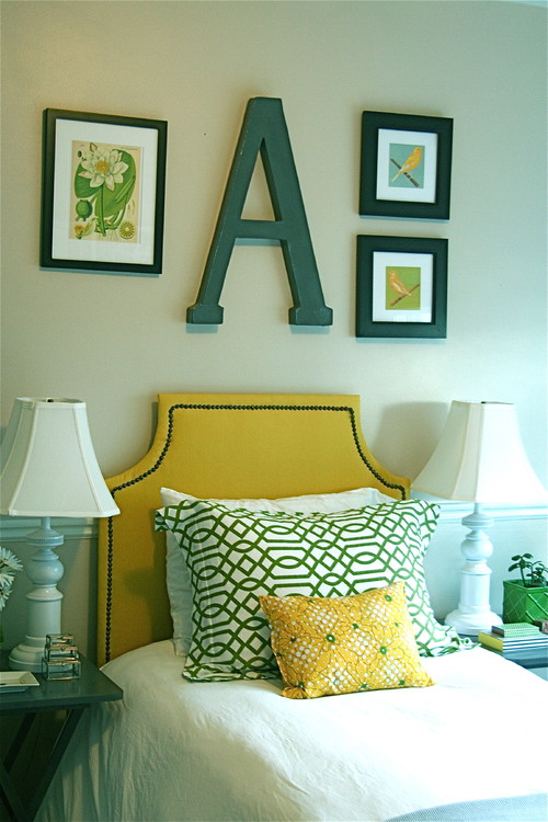 Green and Yellow Bedroom