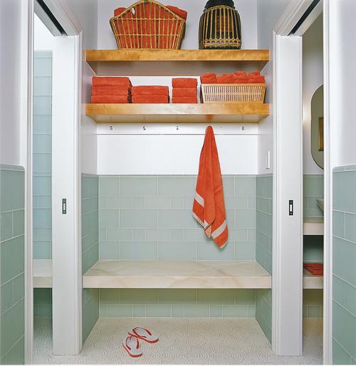 Bench contemporary bathroom