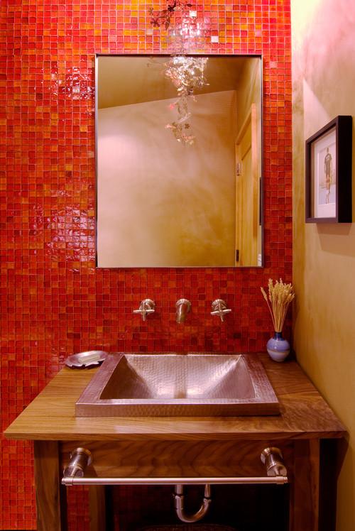 Powder Bathroom contemporary powder room