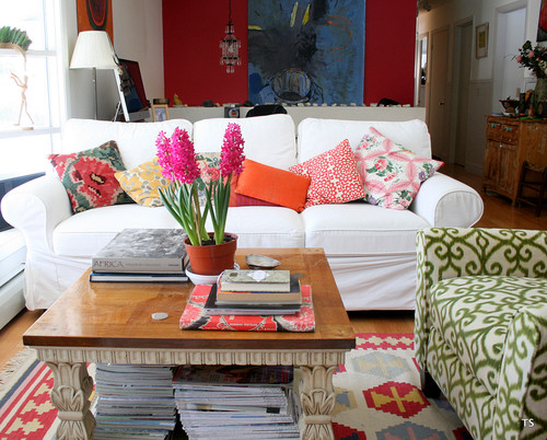 New sofa eclectic living room