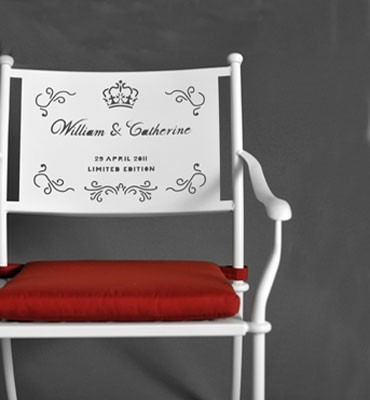 William & Catherine Chair Commemorative  armchairs