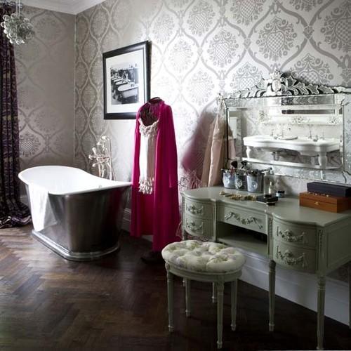 eclectic bathroom eclectic bath- livingetc