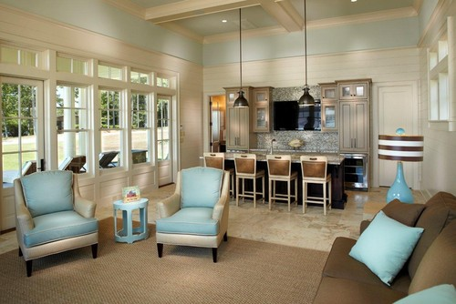 Lake Cabana contemporary living room
