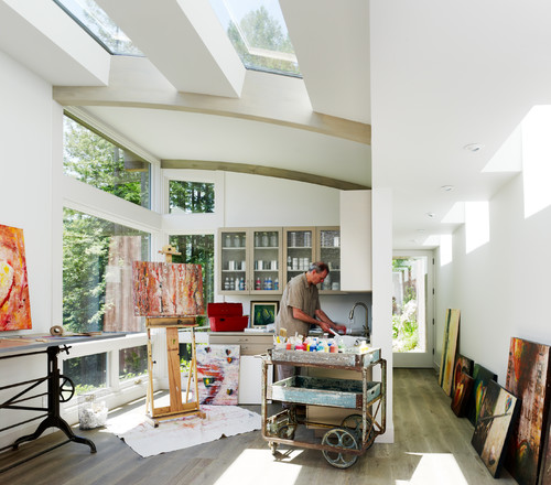 MIll Valley Cabins contemporary home office