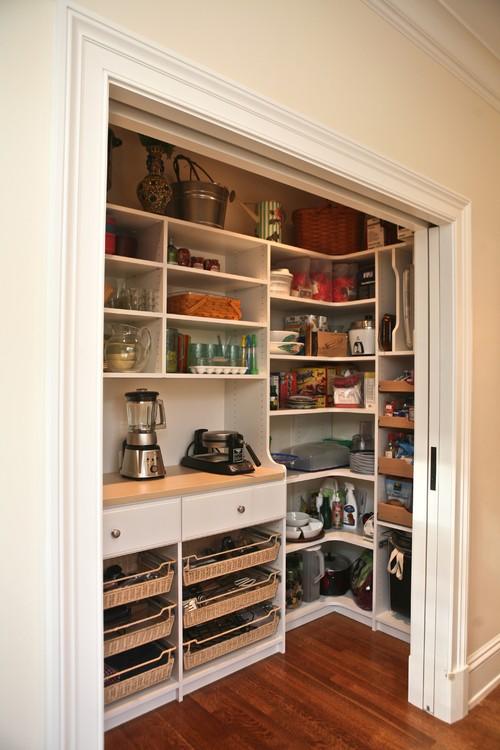 Custom pantry traditional kitchen