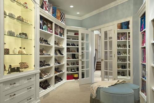 Upper Level Display Room contemporary closet