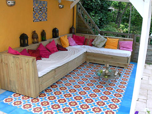 REEDITION OF OLD DESIGN FLOOR -  LUXURYSTYLE.es mediterranean porch