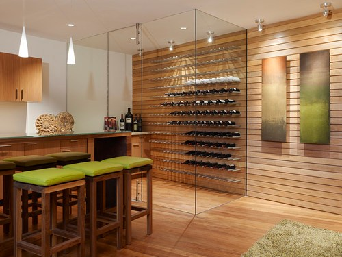 modern wine cellar by Fulcrum Structural Engineering