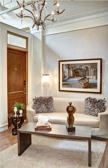 eclectic living room by Margeaux Interiors Inc. - Margaret Presti