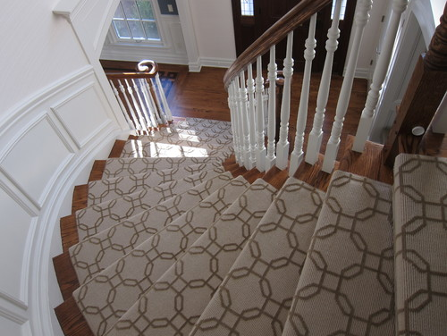 Classic Geometric Stair Runners Add Elegance To Any