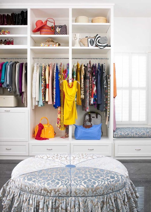 Hacienda Chic Residence eclectic closet